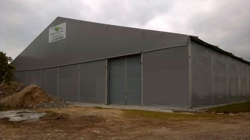 Aluguel de barracão de membrana técnica (lona)
