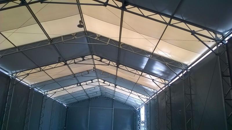 Barracão de membrana técnica (lona) para alugar