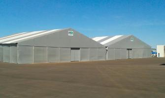 Locação de coberturas para armazenagem